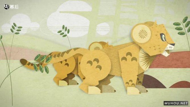 美国西雅图动物园折纸宣传片视频Alive-Lion Cubs