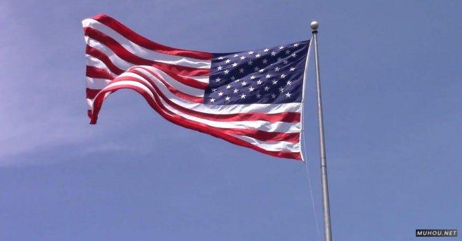 855121|爱国美国国旗在空中免费素材视频