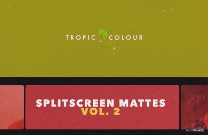 80套分屏边框静态遮罩8K图片素材下载 Split Screen Film Mattes v2