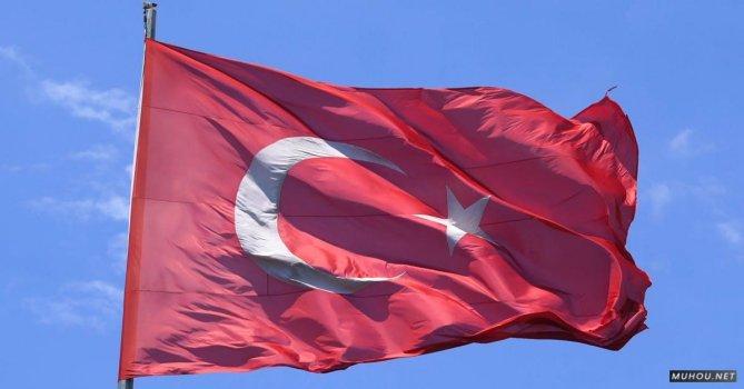 2681576|土耳其国家的红色国旗4K免费素材视频