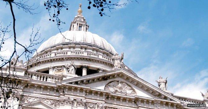 2325049|宗教教会拱顶建筑蓝色天空的CC0视频素材