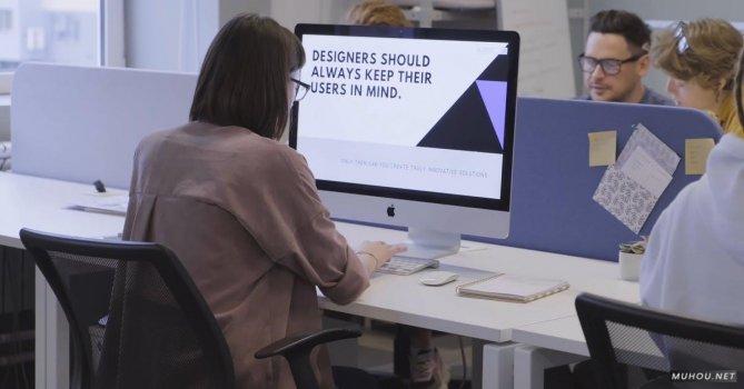 3255384|工作室格子间女人办公4K免费素材视频