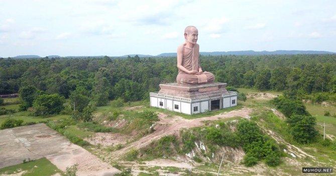 3173833|有关地标, 宗教, 寺庙雕塑4K航拍免费素材视频