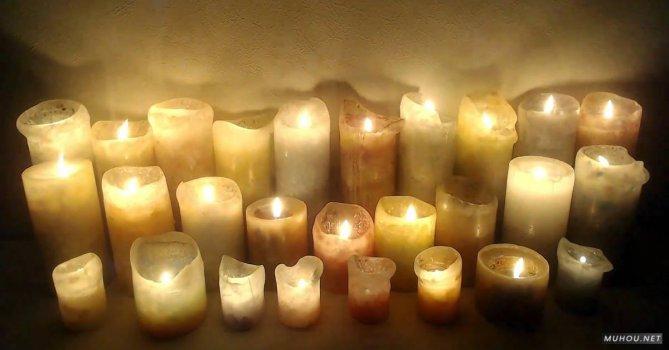 3561988|墙角的固体蜡烛燃烧火焰免费素材视频