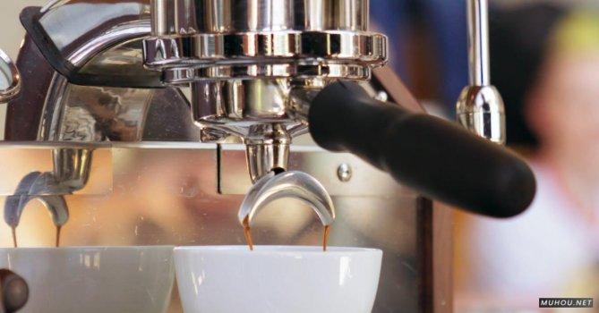 2853788|不锈钢咖啡机冲泡咖啡4K免费素材视频
