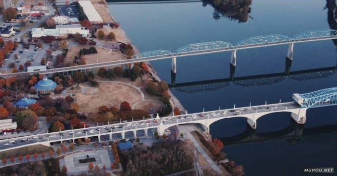 3263401|航拍蓝色海洋跨海大桥4K免费素材视频