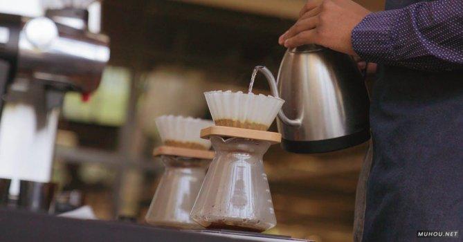 2849960|咖啡制作水壶过滤慢镜头4K免费素材视频