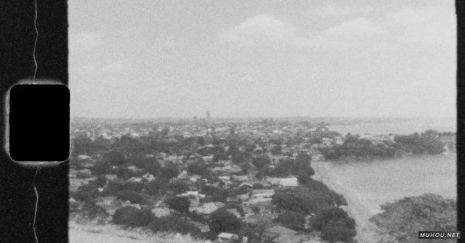 3588892|黑白历史怀旧海滩城市免费素材视频
