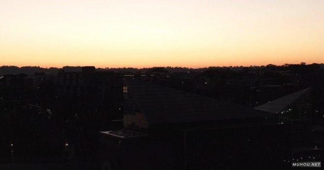 3258640|有关三角形的, 城市日落屋顶4K免费素材视频