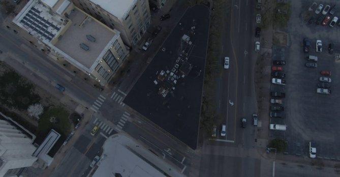 2254234|俯拍城市交通系统, 全景航拍4KCC0视频素材