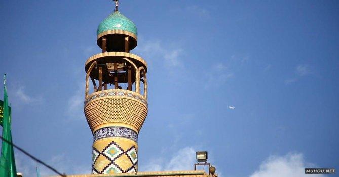 3078548|伊朗传统的伊斯兰宗教建筑免费素材视频