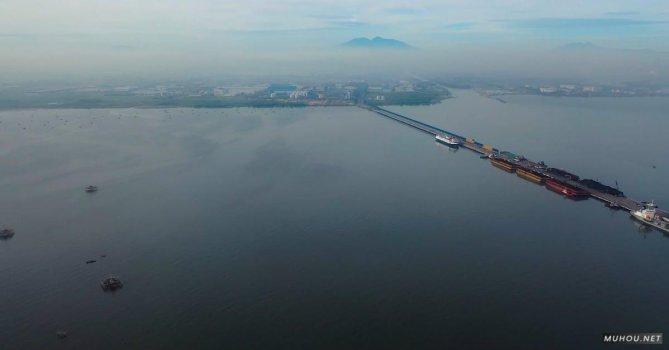 2226483|高空航拍贸易区货轮轮船4K素材视频