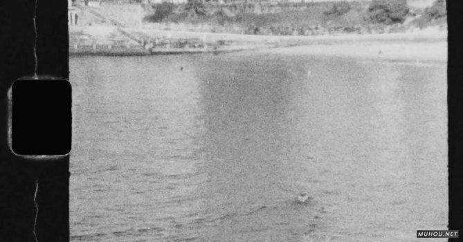 2759448|黑白画面男人海边冲浪免费素材视频