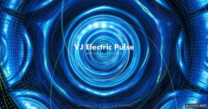 VJ电脉冲蓝色三维空间背景视频素材