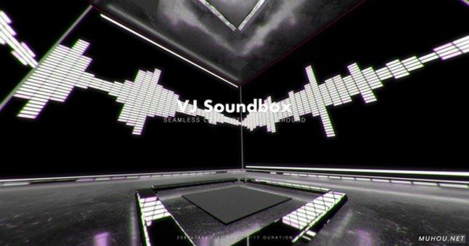 VJ Soundbox 激情音乐节奏频谱舞台视频素材