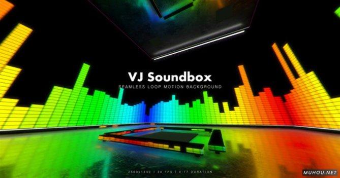VJ Soundbox彩色频谱节奏舞台视频素材