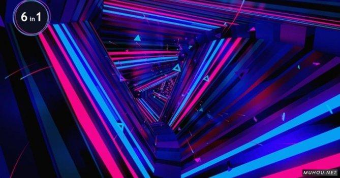 Vj环路抽象艺术运动图形三角形空间j视频素材