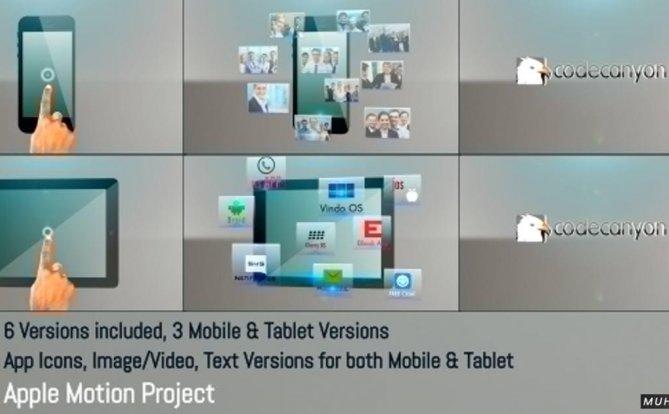 移动-平板电脑应用促销-Apple Motion/FCPX视频模板