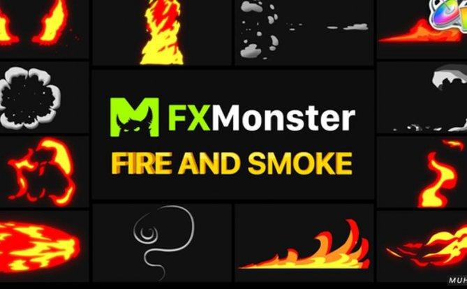 火和烟元素14组动画效果FCPX视频模板