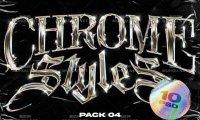 80年代金属镀铬文字样式素材 (psd,jpg)