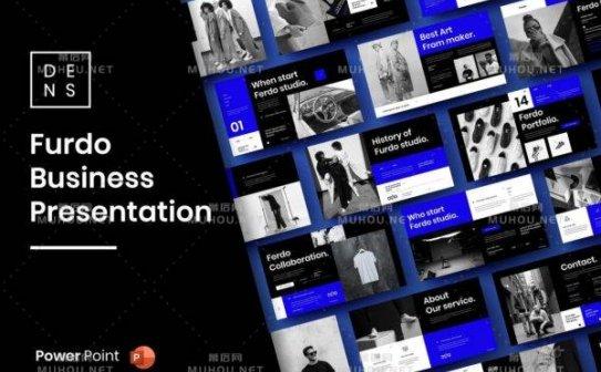 时尚高端专业的高品质商业商务powerpoint幻灯片演示模板(pptx)